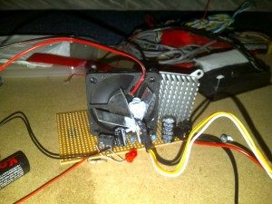 5v regulator with home made heatsink