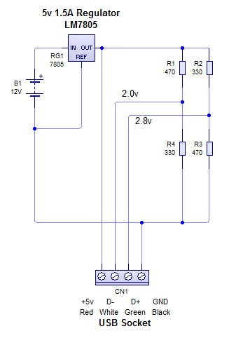 Working Prototype 1 circuit diagram